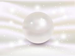 真珠 パール 背景 シルク